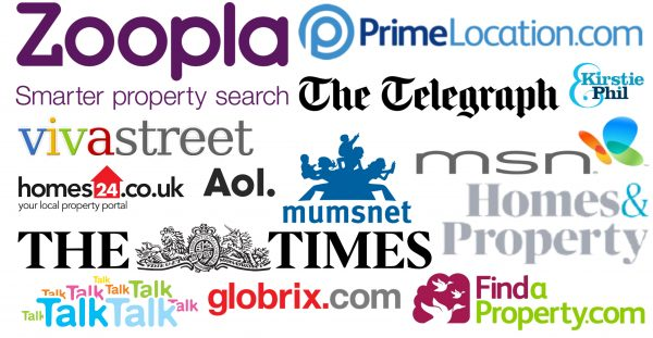 We advertise on these well known websites
